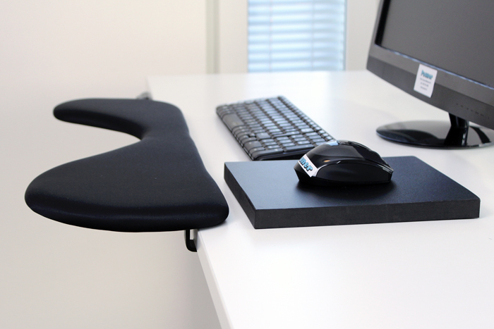 Ergonomic Mouse Pad With Carpal Tunnel And Forearm Support For Computer Work